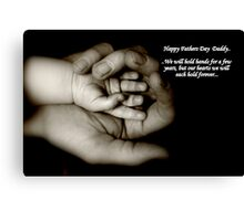 Fathers day card Canvas Print