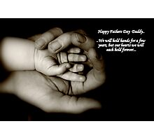 Fathers day card Photographic Print