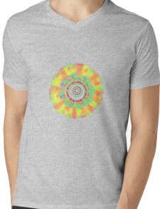 Psychedelic Flower T-Shirt Mens V-Neck T-Shirt