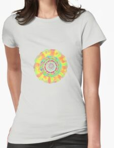 Psychedelic Flower T-Shirt Womens Fitted T-Shirt