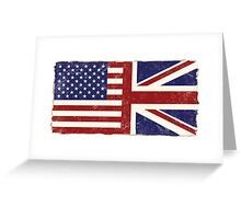 Anglo American Flag Greeting Card