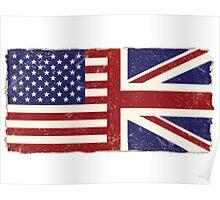Anglo American Flag Poster
