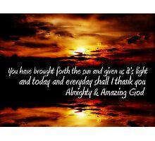 Amazing God ................... Photographic Print