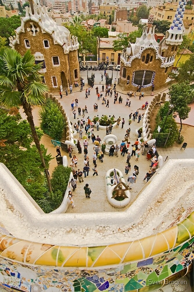 Parc Guell in Barcelona by Sven Brogren