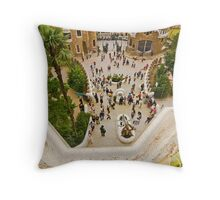 Parc Guell in Barcelona Throw Pillow