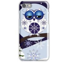 Snow Owl in Snowflakes land iPhone Case/Skin