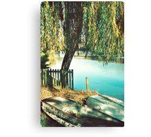 Autumn Row Boats Canvas Print