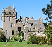 Lochinch Castle,from terrace garden, Castle Kennedy,s/w Scotland. by Phil Mitchell