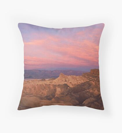 Sunrise in Death Valley Throw Pillow