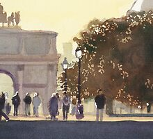 """Napoleon's Carousel"" Watercolor by Paul Jackson"