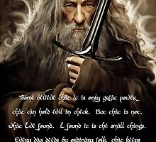 Quotes of Gandalf 2 by tabikkat22