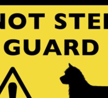 Humorous Australian Terrier Warning Sticker