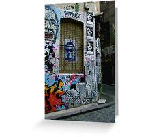 Melbourne Graffiti - Fitzroy III Greeting Card