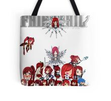 Fairy Tail many faces of Erza anime shirt Tote Bag