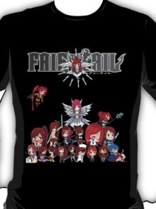 Fairy Tail many faces of Erza anime shirt T-Shirt