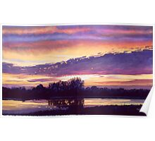 """""""Mill Creek Sunset"""" Watercolor Poster"""