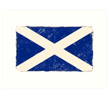 Scottish Flag Art Print