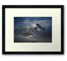 Himalayas through the Clouds Framed Print