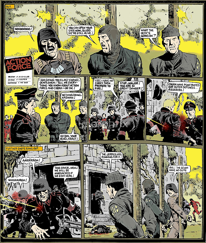 ACTION FORCE DEATH IN SOUTH AMERICA PAGE 28 (COLORED) by morphfix