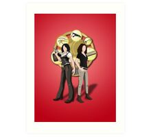 Solving Puzzles, Saving the day. Art Print