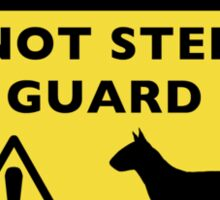 Humorous Miniature Bull Terrier Warning Sticker