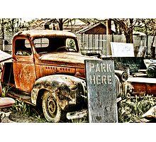 PARK HERE Photographic Print