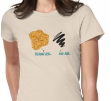 Know ASL - No ASL Womens Fitted T-Shirt