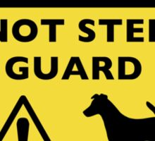 Humorous Smooth Fox Terrier Guard Dog Warning Sticker