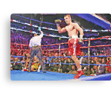 Knockout Painting Canvas Print