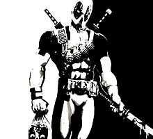BLACK AND WHITE DEADPOOL by ctho2178