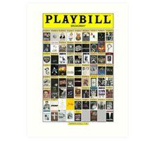 Broadway Playbill Collage Art Print