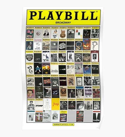 Broadway Playbill Collage Poster
