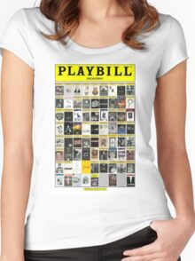 Broadway Playbill Collage Women's Fitted Scoop T-Shirt