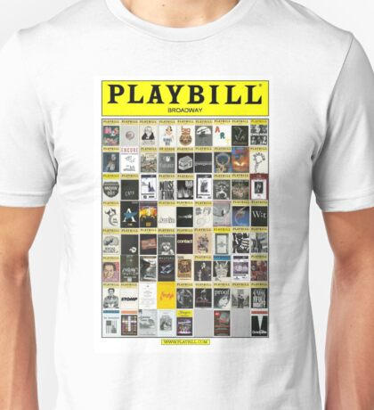 Broadway Playbill Collage Unisex T-Shirt