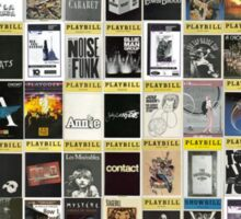 Broadway Playbill Collage Sticker