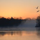 Sunrise at the Lake by mwfoster