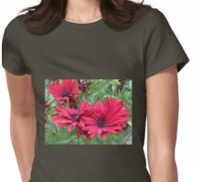Tangle of Red Daisies Womens Fitted T-Shirt