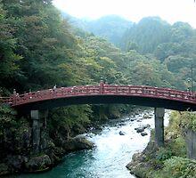 bridge over nikko river by irisphotography