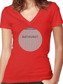 BATHURST Subway Station Women's Fitted V-Neck T-Shirt