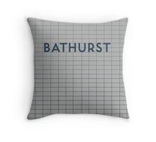 BATHURST Subway Station Throw Pillow
