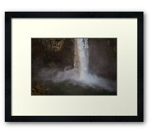 Cascading Water at Snoqualmie Falls Framed Print