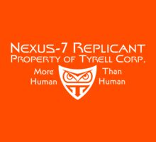 Nexus 7 Replicant - Property of Tyrell Corp. Kids Clothes