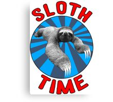 Sloth Time Canvas Print