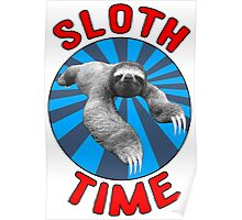 Sloth Time Poster
