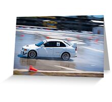 Mitsubishi EVO - Wetpan Greeting Card