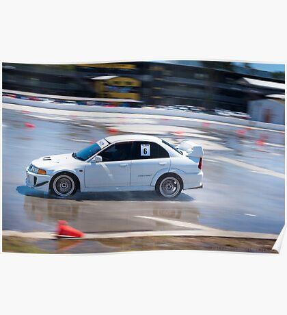 Mitsubishi EVO - Wetpan Poster