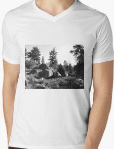 Black And White Landscape 14  Mens V-Neck T-Shirt