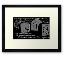 The Truth About Time Framed Print
