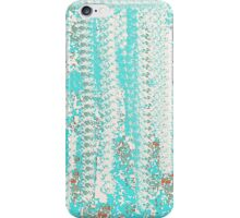 Aqua and Off-White Knit Texture Design iPhone Case/Skin