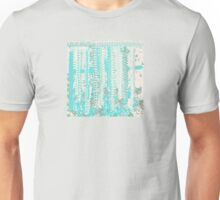 Aqua and Off-White Knit Texture Design Unisex T-Shirt